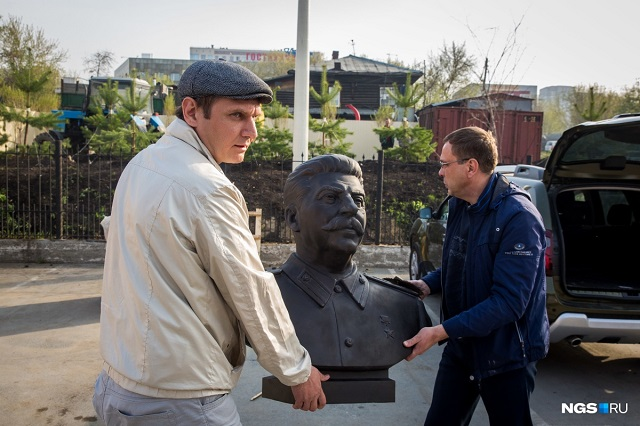 A Monument of Stalin Put Up In Novosibirsk