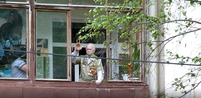 Individual Victory Parade Under the Windows Of Two Veterans