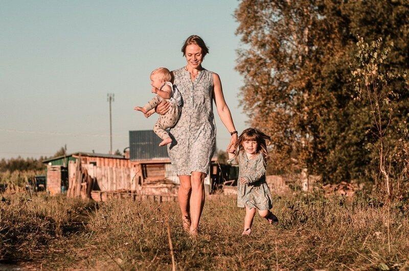 Russian Village: Happy In Its Simplicity