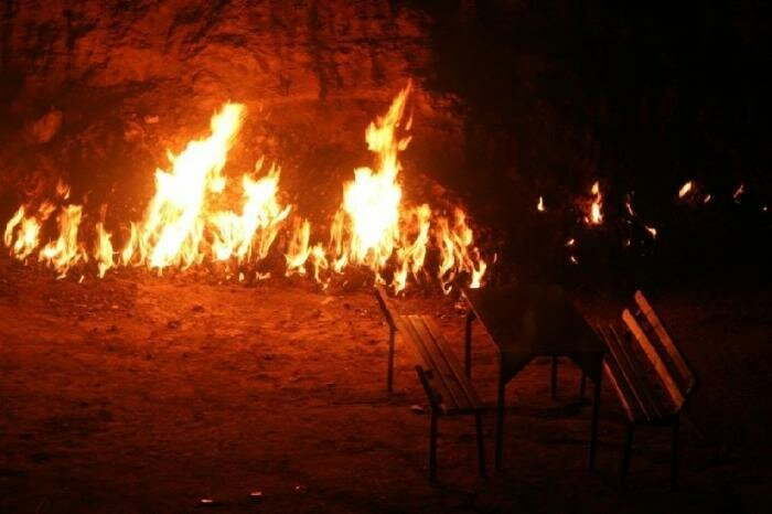 The Burning Mountain of Baku