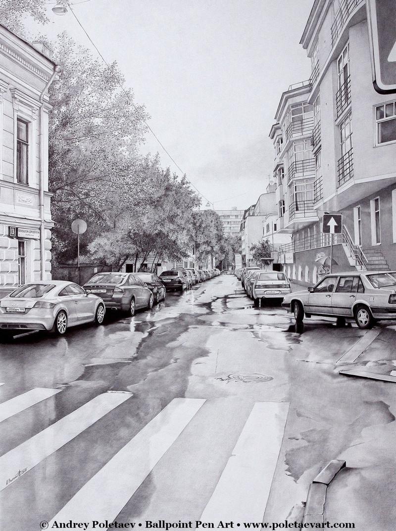 Фотореалистичная живопись шариковой ручкой от Андрея Полетаева - 1 4
