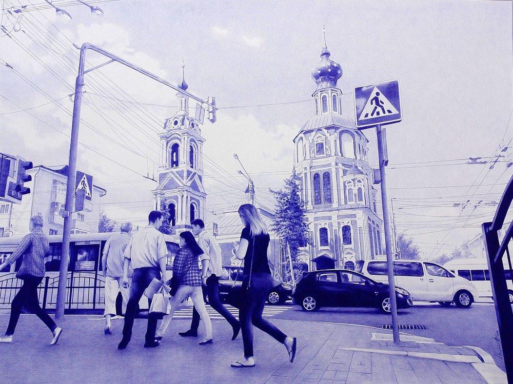 Фотореалистичная живопись шариковой ручкой от Андрея Полетаева - 13