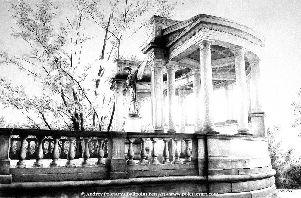 Фотореалистичная живопись шариковой ручкой от Андрея Полетаева - 15