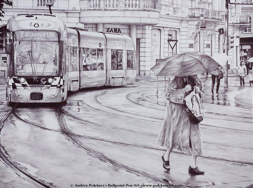 Фотореалистичная живопись шариковой ручкой от Андрея Полетаева - 17