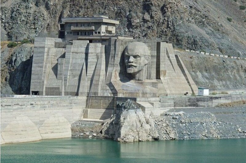 Lenin's Head Reservoir in Kyrgyzstan