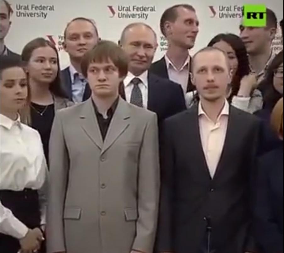 Putin And Tall Student