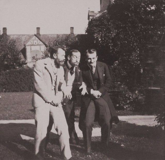 Emperor Nicholas II Fooling Around With His Friends