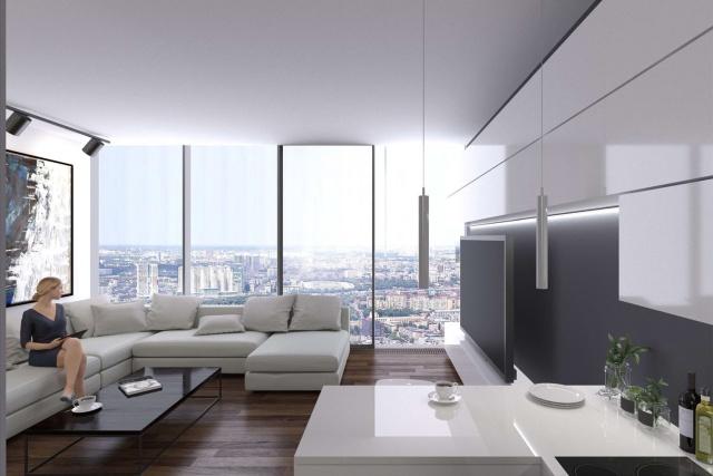 """""""One Tower"""" - самый высокий жилой комплекс Европы (11 фото)"""
