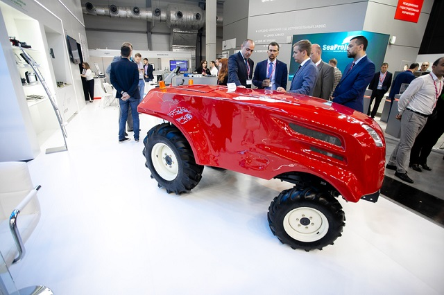 "Unmanned Tractor From ""Roskosmos"""