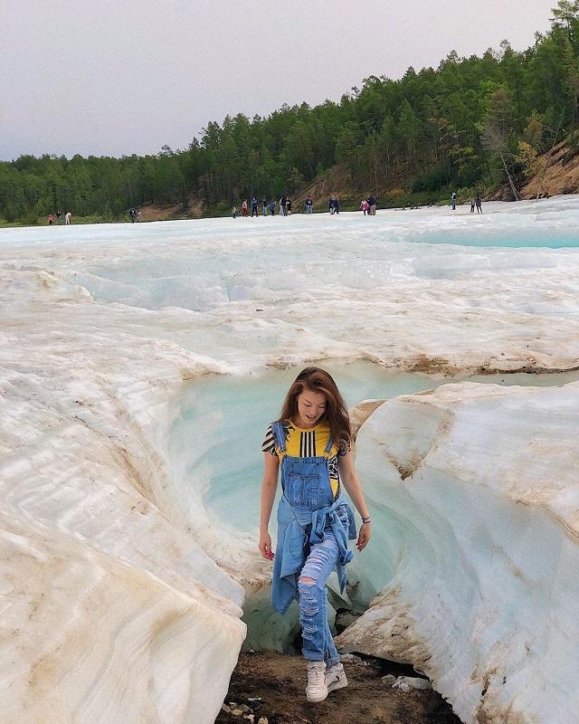 Отдых на ледяном пляже в Якутии (21 фото)