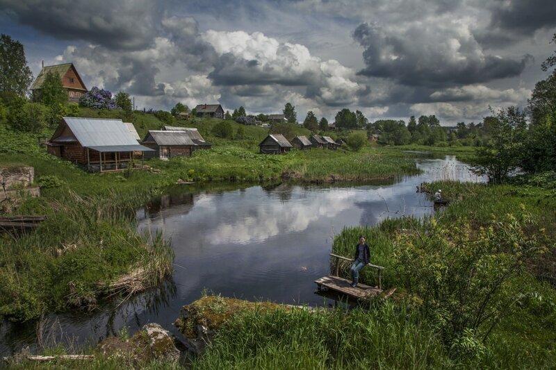 Село, деревня, хутор деревня, жизнь, люди