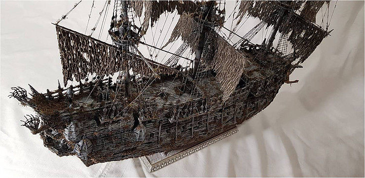 """""""Flying Dutchman"""" Made From Scrap"""