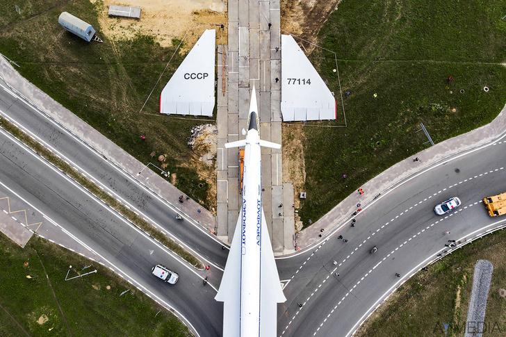 Tu-144 Aircraft Transportation On Public Roads