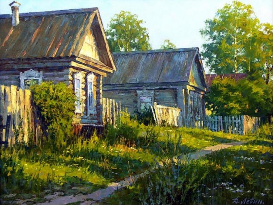 Вдали от суеты: деревенская живопись Дмитрия Лёвина 10