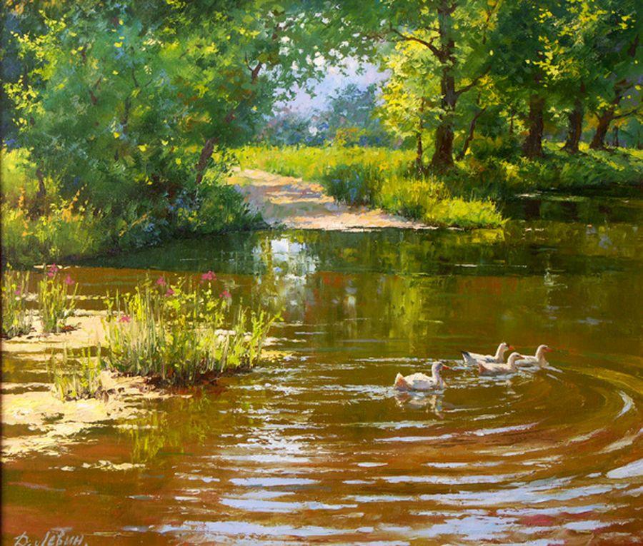 Вдали от суеты: деревенская живопись Дмитрия Лёвина 11