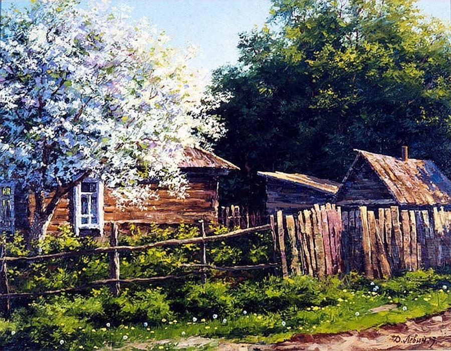 Вдали от суеты: деревенская живопись Дмитрия Лёвина 12