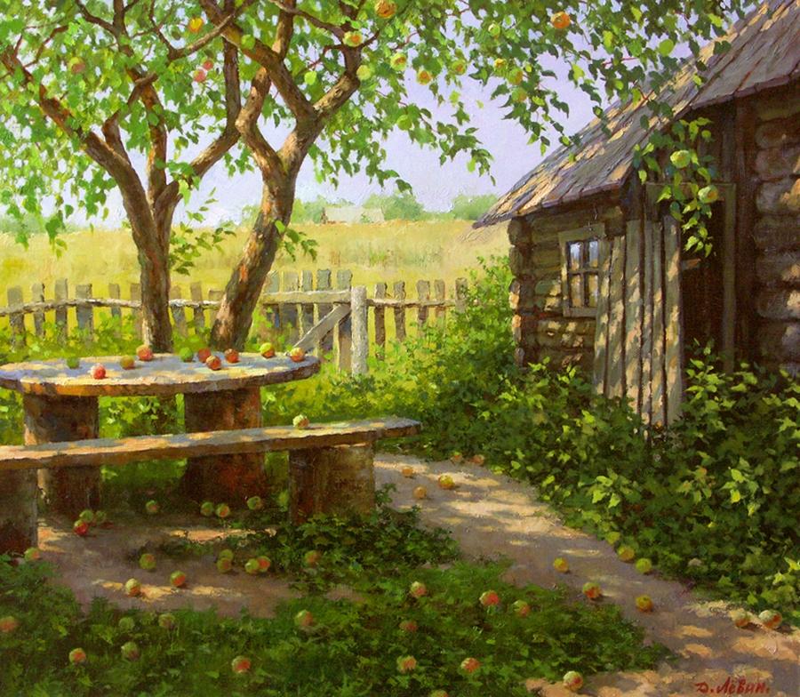 Вдали от суеты: деревенская живопись Дмитрия Лёвина 13