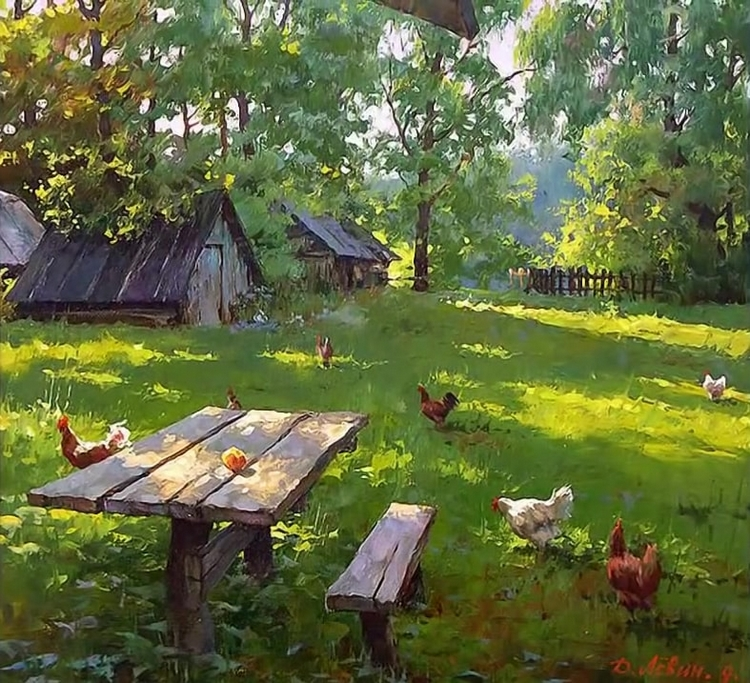 Вдали от суеты: деревенская живопись Дмитрия Лёвина 22