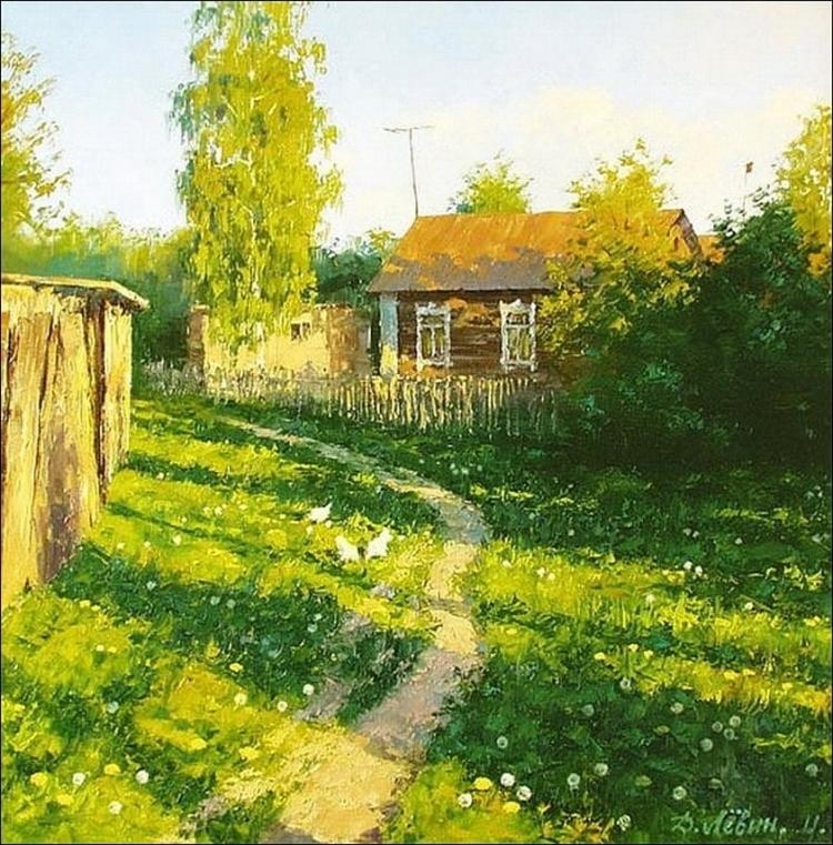 Вдали от суеты: деревенская живопись Дмитрия Лёвина 23