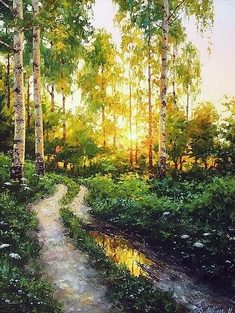 Вдали от суеты: деревенская живопись Дмитрия Лёвина 24