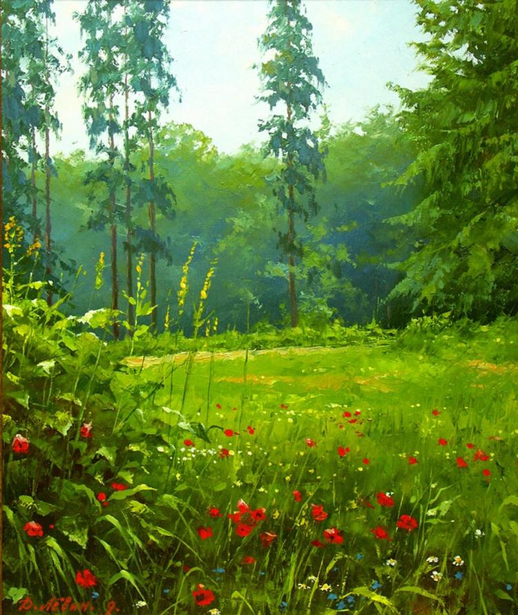 Вдали от суеты: деревенская живопись Дмитрия Лёвина 26