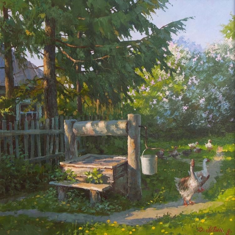 Вдали от суеты: деревенская живопись Дмитрия Лёвина 28