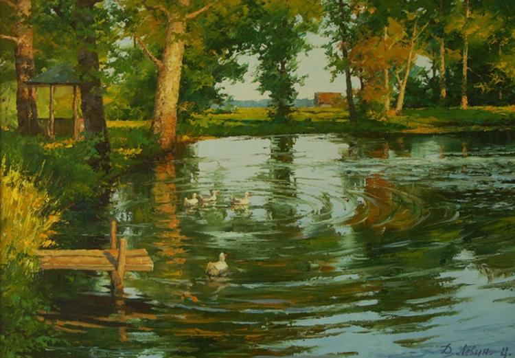 Вдали от суеты: деревенская живопись Дмитрия Лёвина 31