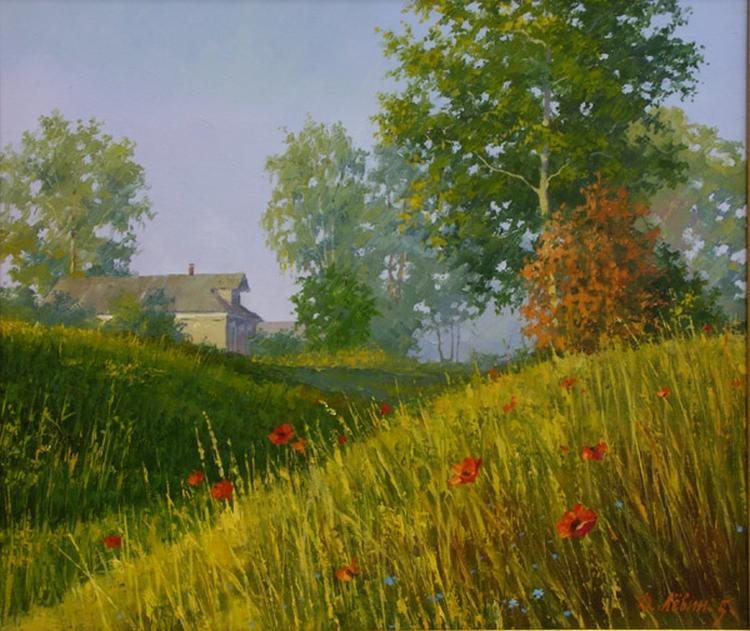 Вдали от суеты: деревенская живопись Дмитрия Лёвина 32