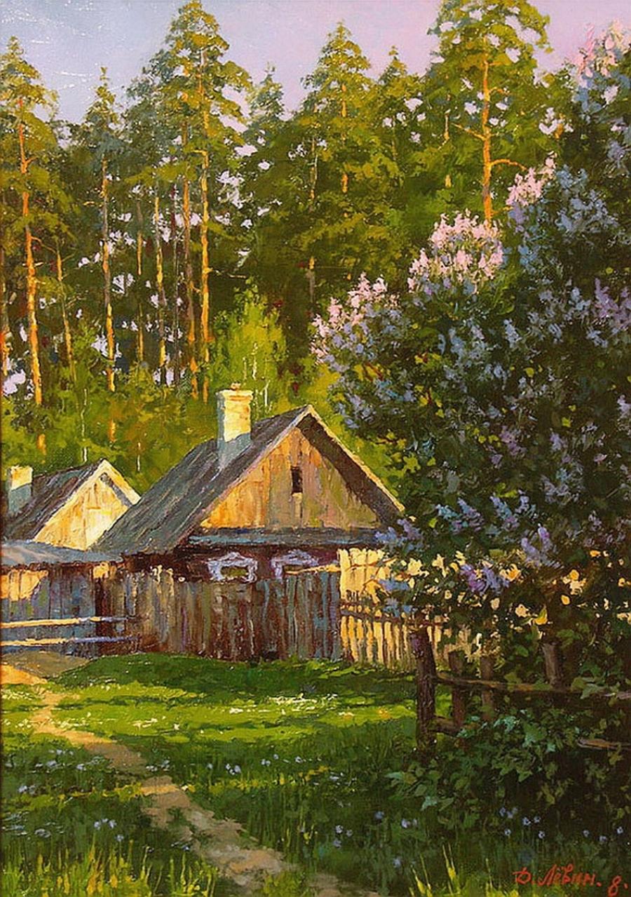Вдали от суеты: деревенская живопись Дмитрия Лёвина 4