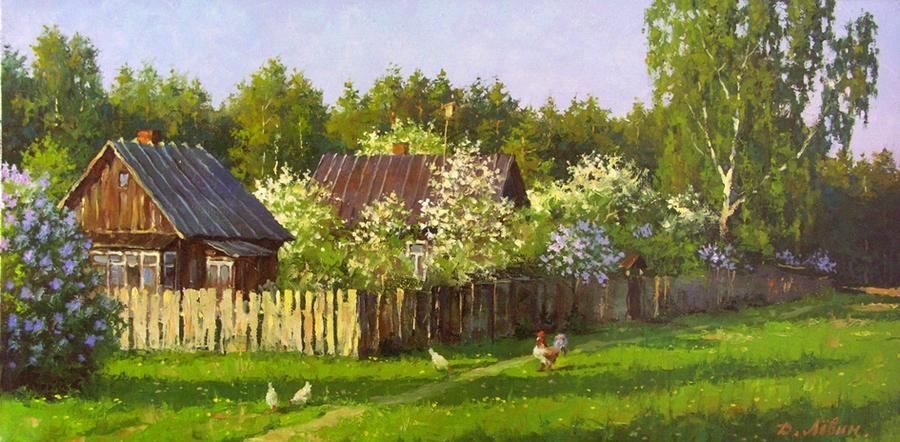 Вдали от суеты: деревенская живопись Дмитрия Лёвина 6