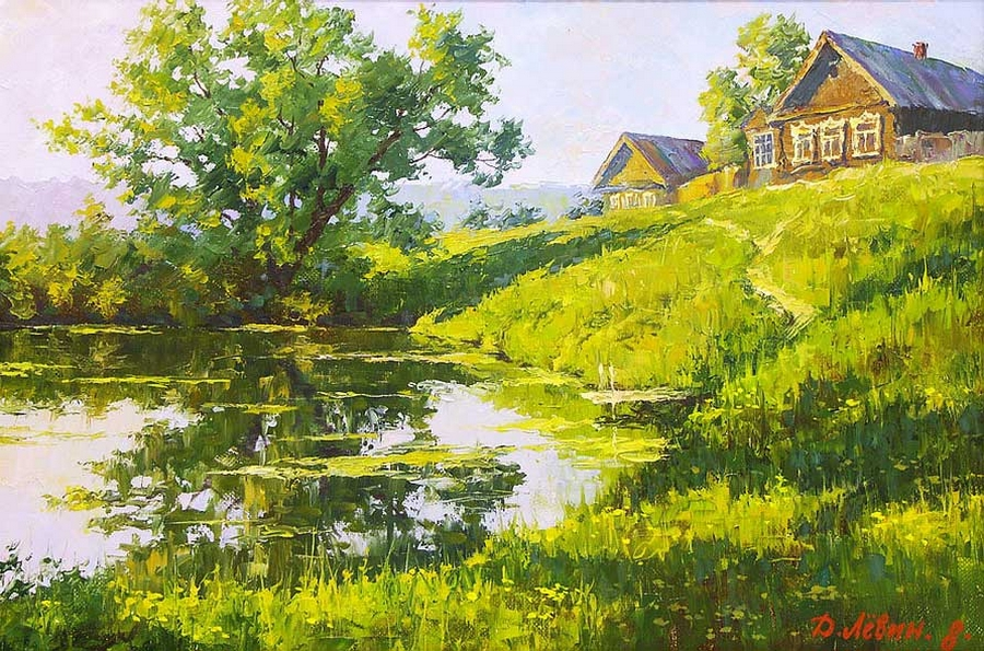Вдали от суеты: деревенская живопись Дмитрия Лёвина 9