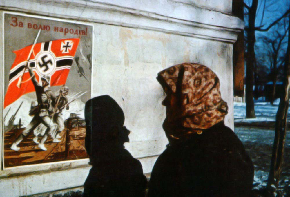 Colorized Photos of Kharkiv Occupied by Nazi Germans