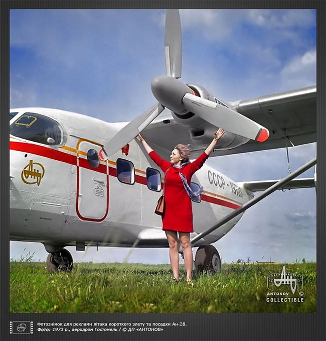 "Planes And Girls: Soviet Advertisement From ""Antonov"" Company"