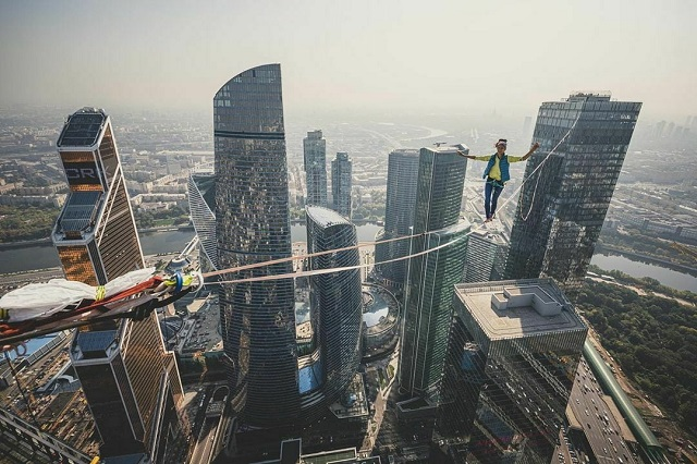 A New World Highline Record Set In Moscow