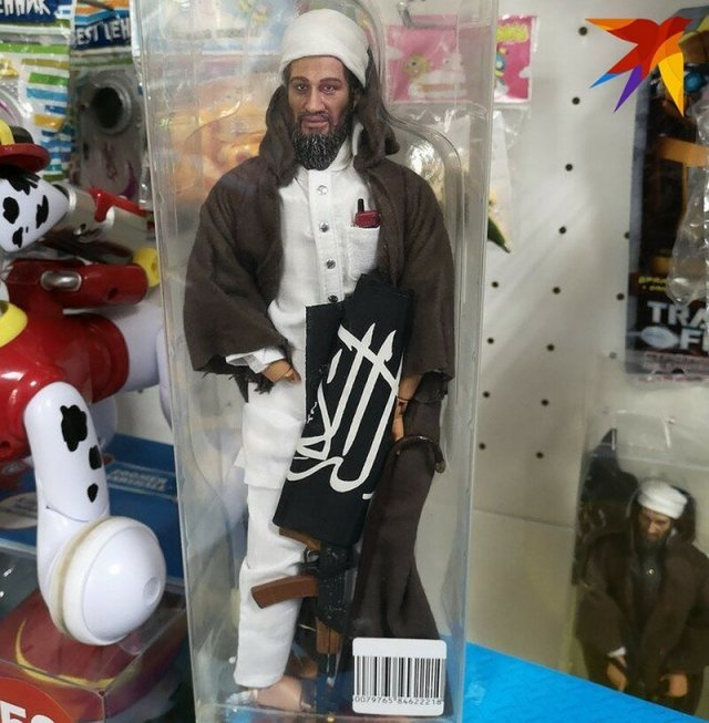 Osama Bin Laden Toy In a Children's Store of Russia