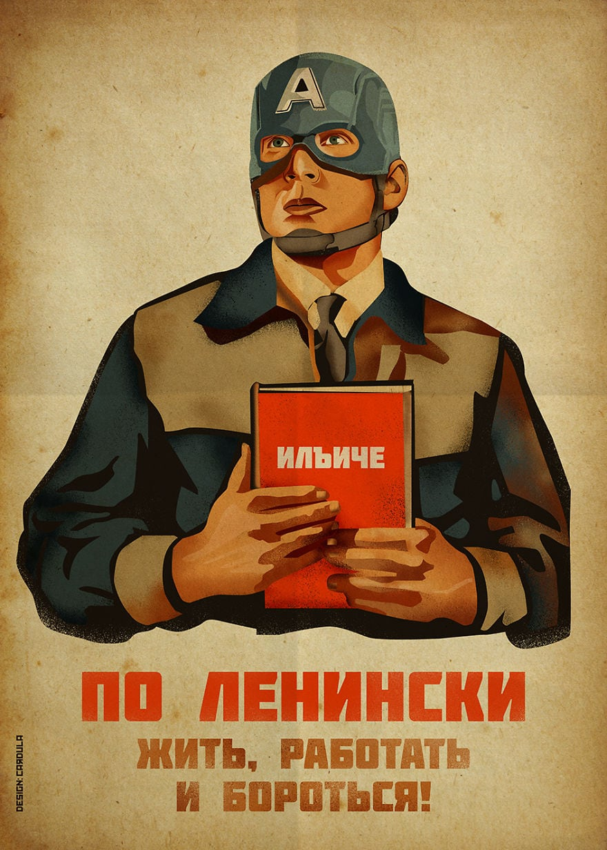Heroes From Comic Books On Soviet Posters