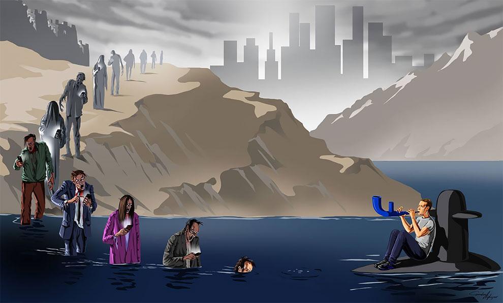 The Evils of the Society As Viewed By Artist Gunduz Agaev