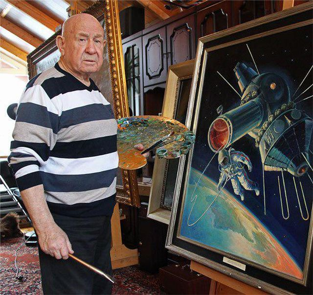 Paintings of the Soviet Cosmonaut Alexey Leonov