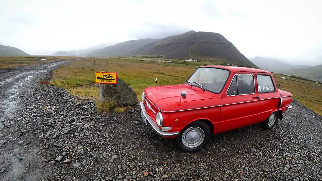 Russian Reached Iceland By Old Soviet Car 'Zaporozhets""