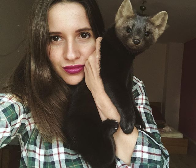 Russian Girl Now Has a Pet Sable
