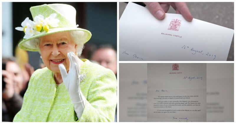 Russian Boy Receives a Letter From Her Majesty Queen Elizabeth