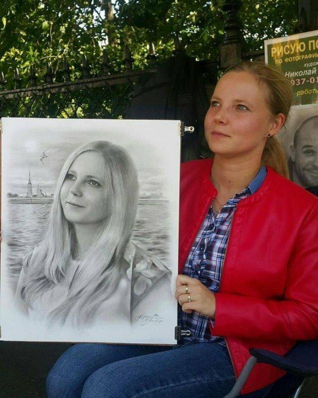 Петербургский художник круто рисует людей