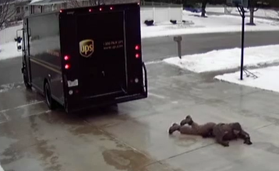 Slippery Delivery of the Parcel