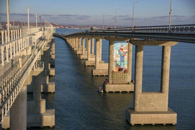 Crimean Bridge Has Got a New Piece of Graffiti