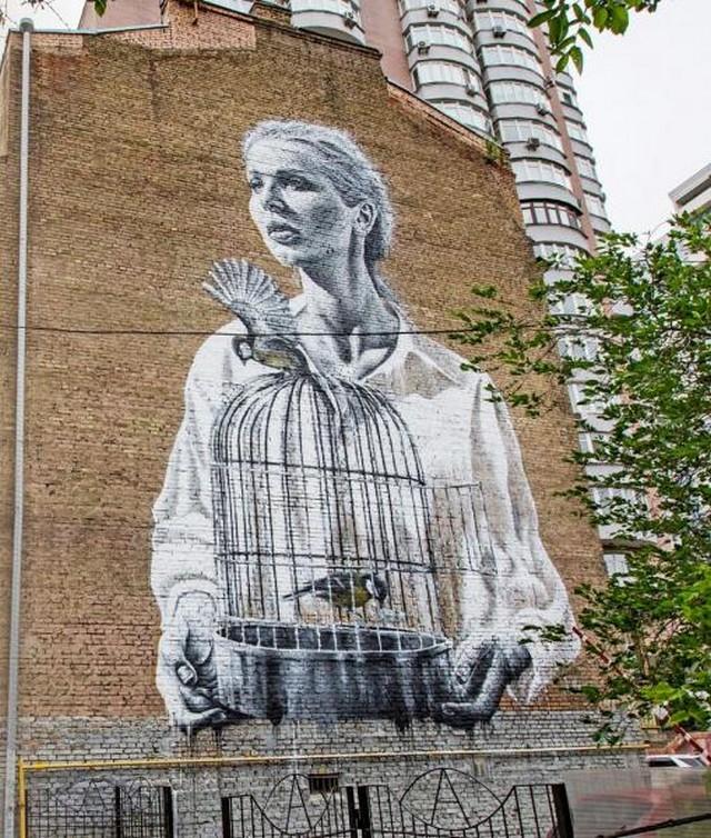 Стрит-арт на улицах городов (10 фото)
