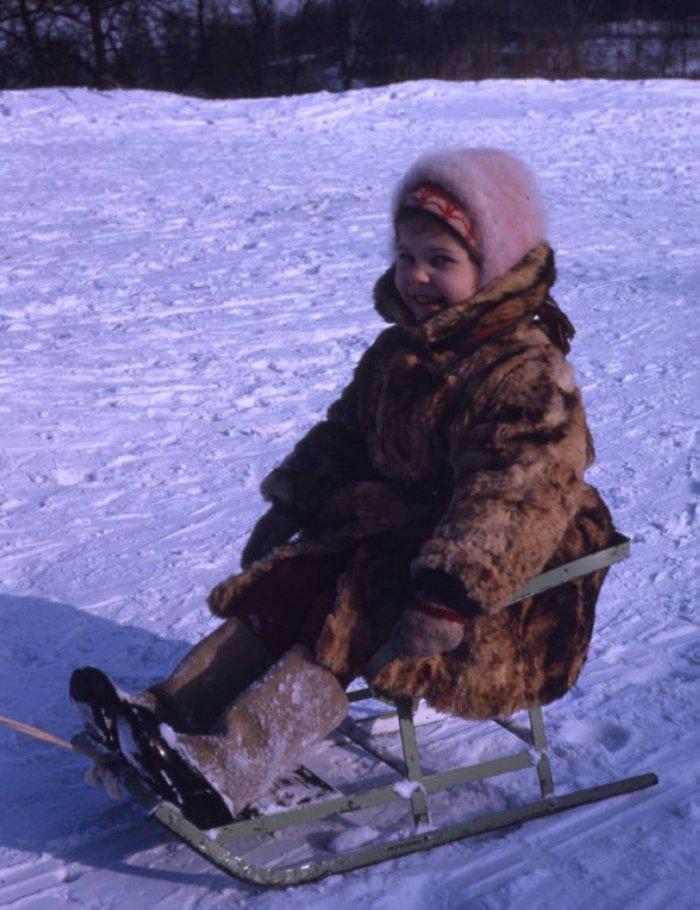 Snow Sledging - Favorite Winter Entertainment of Soviet Children