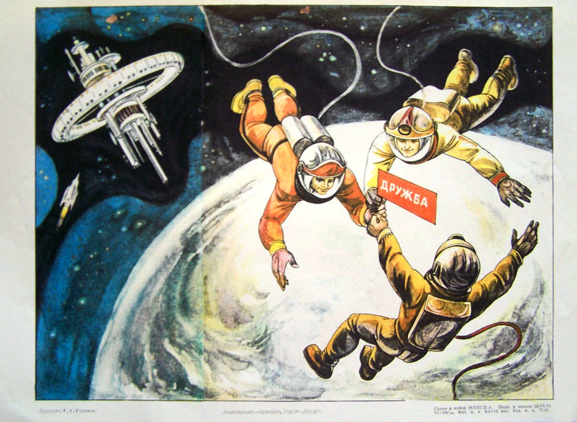 Soviet Propaganda Posters Related to Space Exploration