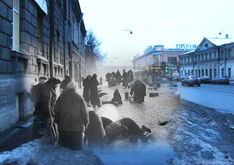 The Echo of the Leningrad's Siege 75 Years After