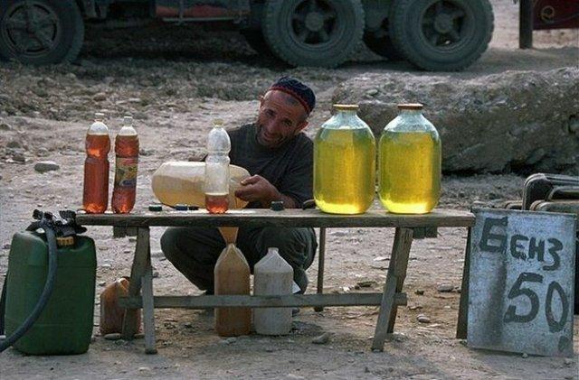 Так в Чечне продавали бензин