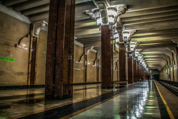 Beautiful Subway of Tashkent, Uzbekistan